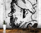 Old man with a snub nose, c.1629 (etching) wallpaper mural kitchen preview