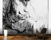 Beggar seated on a bank, 1630 (etching) wallpaper mural kitchen preview