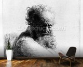 Head of an old man, 1631 (etching) wall mural kitchen preview