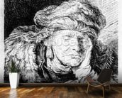 An Old Woman Sleeping, etched by Francesco Novelli, c.1790 (etching) wall mural kitchen preview