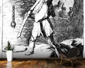 The Beheading of John the Baptist, c.1627 (etching) wallpaper mural kitchen preview