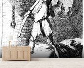 The Beheading of John the Baptist, c.1627 (etching) wallpaper mural living room preview