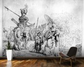 The Baptism of the Eunuch, 1641 (etching) mural wallpaper kitchen preview