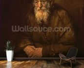 Portrait of an Old Jew (oil on canvas) mural wallpaper kitchen preview