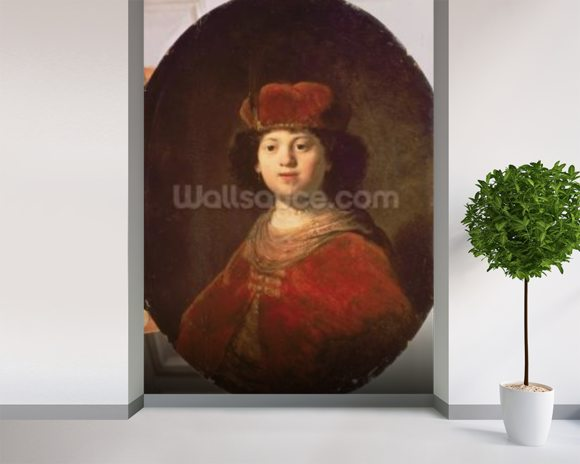 Portrait of a Boy, 1634 (oil on canvas) wallpaper mural room setting