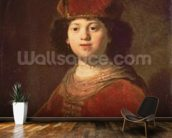 Portrait of a Boy, 1634 (oil on canvas) wallpaper mural kitchen preview