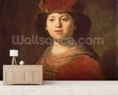 Portrait of a Boy, 1634 (oil on canvas) wallpaper mural living room preview