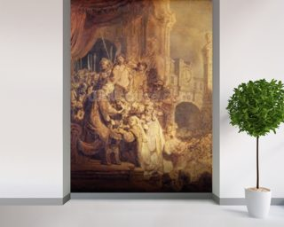Ecce Homo, 1634 (oil on paper) mural wallpaper