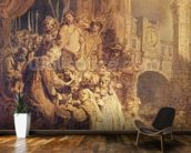 Ecce Homo, 1634 (oil on paper) mural wallpaper kitchen preview