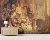 Ecce Homo, 1634 (oil on paper) mural wallpaper living room preview