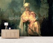 David and Jonathan, 1642 (oil on panel) wall mural living room preview