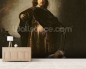 Self Portrait in Oriental Costume, 1631 (oil on panel) mural wallpaper living room preview
