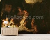 The Entombment, c.1639 (oil on panel) wall mural living room preview