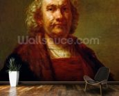 Self Portrait, c.1660-63 (oil on canvas) wallpaper mural kitchen preview