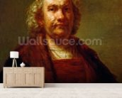 Self Portrait, c.1660-63 (oil on canvas) wallpaper mural living room preview