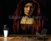 Portrait of an Old Woman mural wallpaper kitchen preview