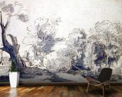 Landscape (pen and ink and wash on paper) mural wallpaper kitchen preview