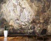 Annunciation to the Shepherds (pen and ink on paper) wall mural kitchen preview