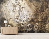 Annunciation to the Shepherds (pen and ink on paper) wall mural living room preview
