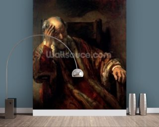 An Old Man in an Armchair Wallpaper Mural Wall Murals Wallpaper