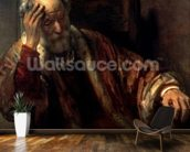 An Old Man in an Armchair (oil on canvas) wallpaper mural kitchen preview