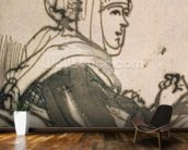Portrait of Saskia, 1634 (ink and wash on paper) mural wallpaper kitchen preview