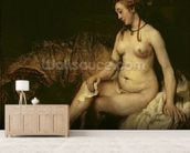Bathsheba Bathing, 1654 (oil on canvas) (see 220594 for detail) wall mural living room preview