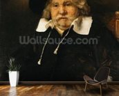 Portrait of an old man, 1667 (oil on canvas) wallpaper mural kitchen preview