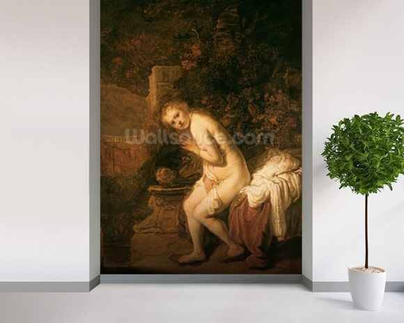 Susanna and the Elders, c.1634 (oil on panel) wall mural room setting