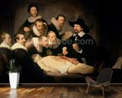 The Anatomy Lesson of Dr. Nicolaes Tulp, 1632 (oil on canvas) mural wallpaper kitchen preview