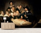 The Anatomy Lesson of Dr. Nicolaes Tulp, 1632 (oil on canvas) mural wallpaper living room preview