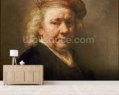 Self Portrait, 1669 wall mural living room preview