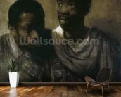 Two Negroes, 1661 (oil on canvas) wallpaper mural kitchen preview