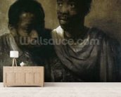 Two Negroes, 1661 (oil on canvas) wallpaper mural living room preview