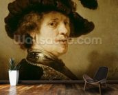 Self Portrait in Fancy Dress, 1635-36 wall mural kitchen preview