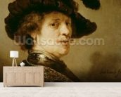 Self Portrait in Fancy Dress, 1635-36 wall mural living room preview