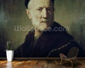 Portrait of Rembrandts Father wallpaper mural kitchen preview