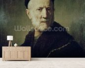 Portrait of Rembrandts Father wallpaper mural living room preview