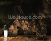 Adoration of the Shepherds, 1646 (oil on canvas) wall mural kitchen preview