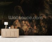 Adoration of the Shepherds, 1646 (oil on canvas) wall mural living room preview
