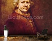 Self Portrait in at the Age of 63, 1669 (oil on canvas) mural wallpaper kitchen preview