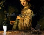 Saskia as Flora, 1634 (oil on canvas) wall mural kitchen preview