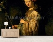 Saskia as Flora, 1634 (oil on canvas) wall mural living room preview