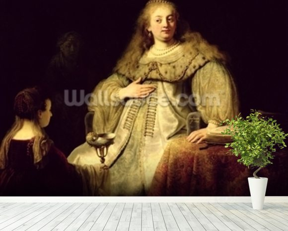 Artemisia, 1634 (oil on canvas) wall mural room setting