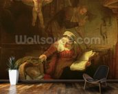 The Holy Family, c.1645 (oil on canvas) wallpaper mural kitchen preview