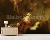 The Holy Family, c.1645 (oil on canvas) wallpaper mural living room preview