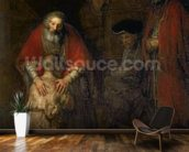 Return of the Prodigal Son, c.1668-69 (oil on canvas) mural wallpaper kitchen preview