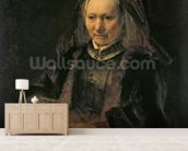 Portrait of an Elderly Woman, c. 1650 wall mural living room preview
