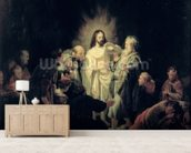 The Incredulity of St. Thomas wallpaper mural living room preview