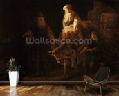 The Departure of the Shemanite Wife (oil on canvas) wall mural kitchen preview